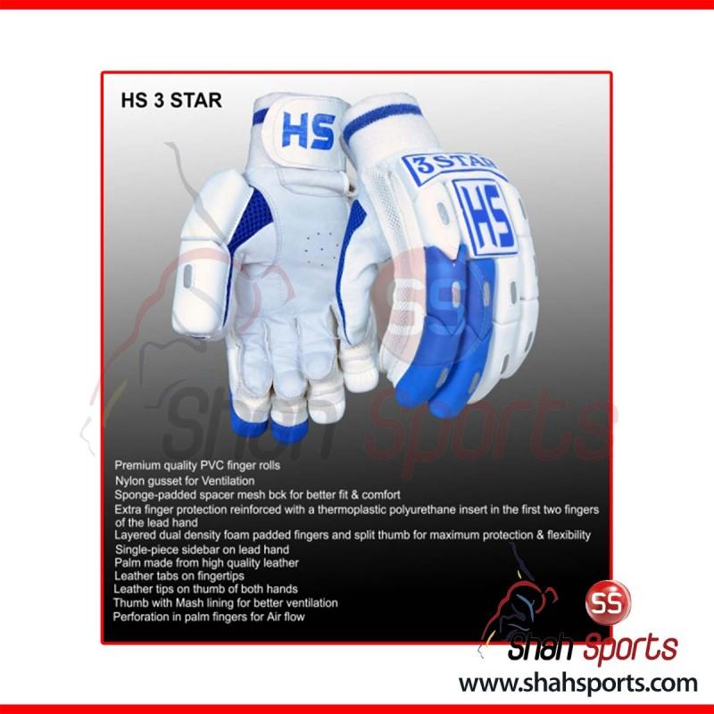 HS 3 STAR Batting Gloves
